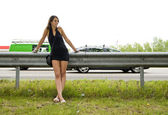 Mujer de carretera — Foto de Stock