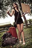 ヒッチ ハイキング — ストック写真