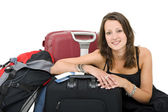 Travelling woman — Stock Photo