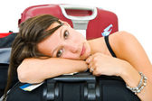 Tired traveller — Foto Stock