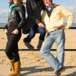 Friends at the beach — Stock Photo #11886483