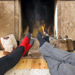 Stock Photo: Warming feet