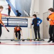 Foto Stock: Curling