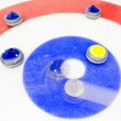 Winning shot at curling — Stock Photo