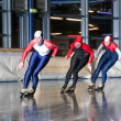 Stock Photo: Three speed skaters