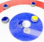 Winning shot at curling — Stock Photo
