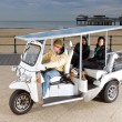 Solar powered tuc tuc — Stock Photo