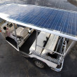 Solar powered tuc tuc - Stock Photo