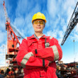 Stock Photo: Offshore engineer