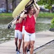Rowing team — Stock Photo