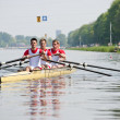 Rowers to the start — Stock Photo