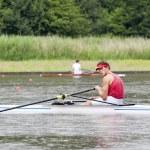 Skiff Rowing — Stock Photo