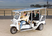 Solar powered tuc tuc — Foto Stock