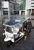 Solar powered tuc tuc — Stock Photo