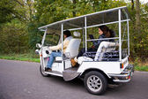 Solar powered tuc tuc on the road — Stock Photo
