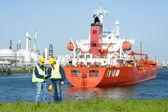 Trabalhadores do porto — Foto Stock