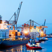 Busy Seaport — Stock Photo