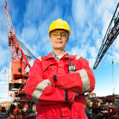Offshore engineer — Stockfoto