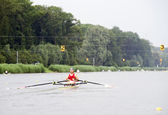 Rowing race — Stock Photo