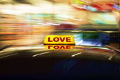 Love cab — Foto Stock