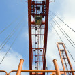 Stock Photo: Container hoisting rig