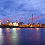 Steel plant at night — Stock Photo