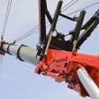 telescopic crane — Stock Photo