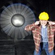 Inside a windtunnel - Stock Photo