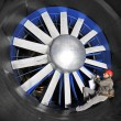 Inspecting a wind tunnel - Foto Stock