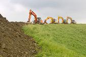 Reenforcement of a Dutch Dyke — Stock Photo