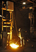 Cast iron factory — Stock Photo