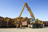 Scrap Heap Crane — Stock Photo