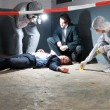 Stock Photo: Forensic science