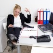 Lazy receptionist — Stock Photo #11982665