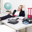 Lazy receptionist — Stock Photo #11982670