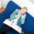 Business call at home — Stock Photo #11982693