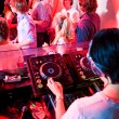 Foto Stock: DJ booth