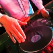Mixing DJ — Stock Photo