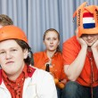 Soccer fans in disbelief — Stock Photo