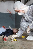 Forensic expert — Stock Photo