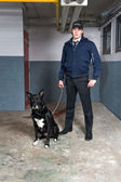 Policeman and K9 unit — Stock Photo