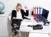 Lazy receptionist — Stock Photo