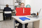 Businesswoman going insane — Stock Photo