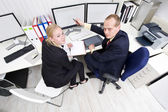 Cooperating colleagues — Stock Photo