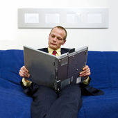 Reading an e-book — Stock Photo