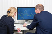 Analyzing trends — Stock Photo