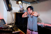 DJ in action — Stock Photo