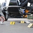Stock Photo: Accident forensics