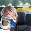 Stock Photo: Neck brace
