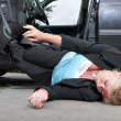 Stock Photo: Injured driver